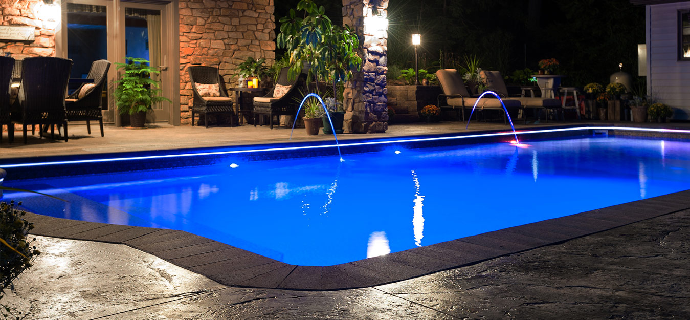 Vinyl Lined Swimming Pool Styles And Designs Easy Living Pools In Ground Swimming Pool